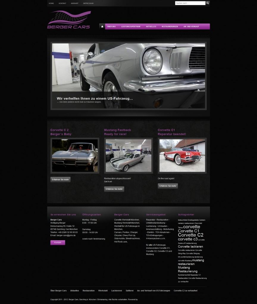 Berger Cars Website