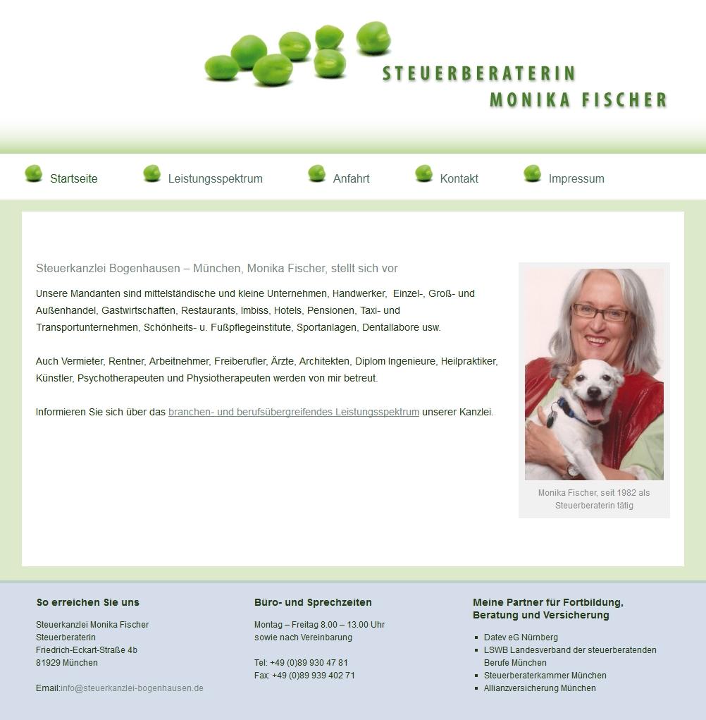 Homepage Steuerberaterin Monika Fischer, München-Bogenhausen